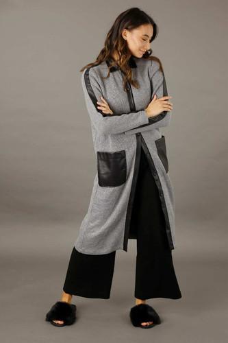 Grey Rib Lexi Coatigan - FINAL SALE