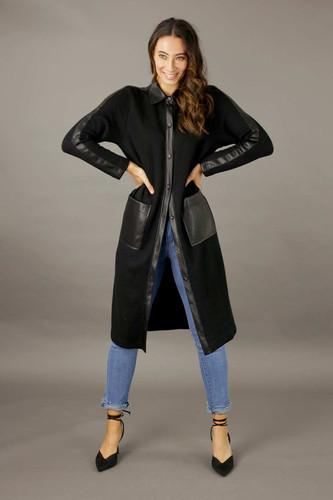 Black Rib Lexi Coatigan - FINAL SALE