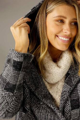 Charcoal Faux Fur Swing Jacket - SALE