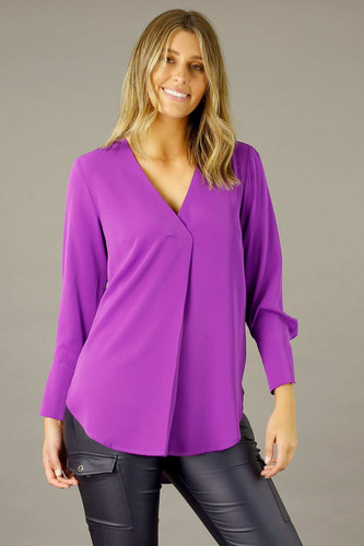 Magenta Soft Touch Blouse