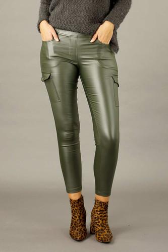 Khaki Waxed Cargo Jean