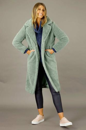 Mint Teddy Coat - SALE