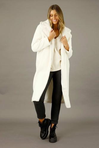 White Teddy Coat - SALE