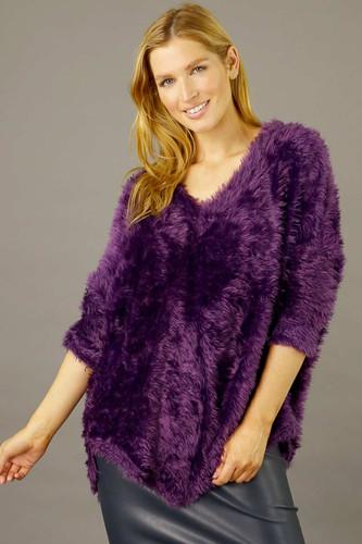 Purple Plush Vee Jumper - SALE