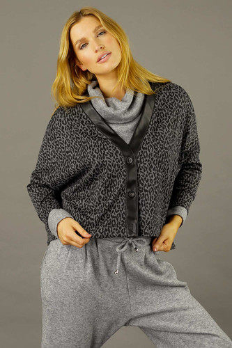Charcoal Sport  Luxe Cardigan - SALE