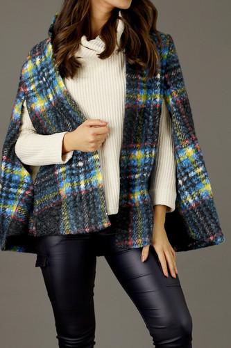 Charcoal Textured Elizabeth Cape - FINAL SALE