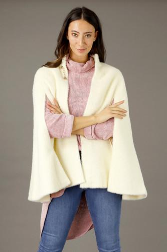 Ivory Elizabeth  Faux Fur Cape - SALE