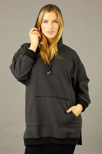 Charcoal Snug Pocket Hoodie - SALE