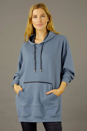 Blue Snug Pocket Hoodie