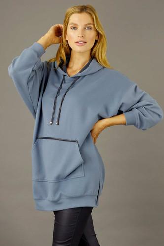 Blue Snug Pocket Hoodie - SALE