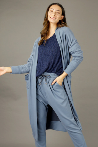 Blue Snug Raglan Cardigan - FINAL SALE