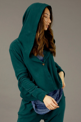 Forest Lounge Hooded Cardigan