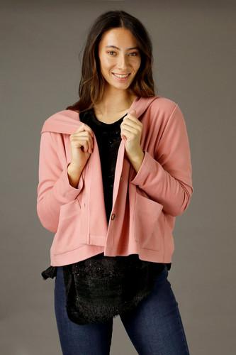 Pink Lounge Hooded Cardigan