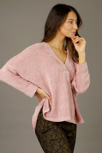 Pink Velour Bronte Jumper - SALE