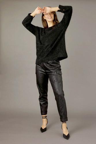 Black Eyelash Knit Genie Jumper - FINAL SALE