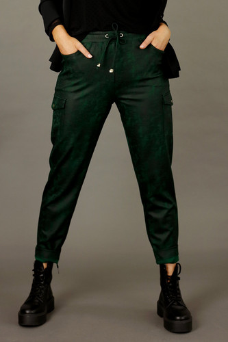 Forest Leatherette Cargo Jogger