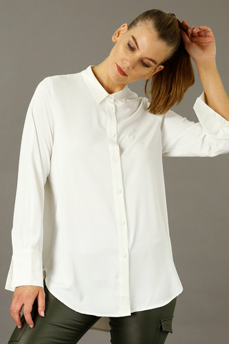 Ivory Soft Touch Essential Boyfriend Shirt