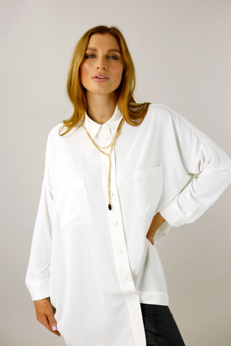 Ivory Soft Touch Maxi Shirt