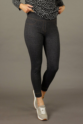 Black Denim Ponte Jeans
