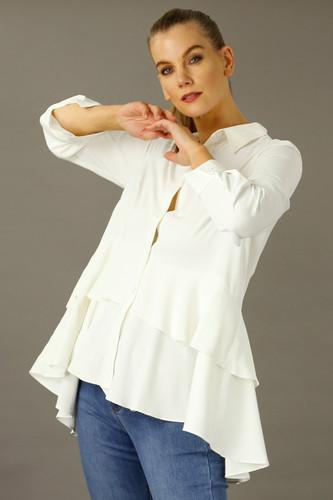 Ivory Soft Touch Staple Paris Shirt