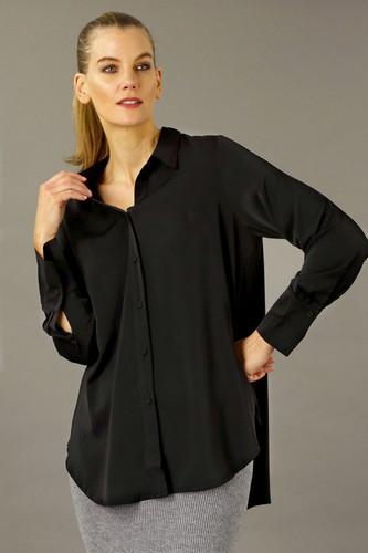 Black Soft Touch Boyfriend Shirt