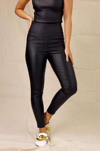 Black Waxed Slim Jean
