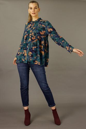 Teal Smudge Nano Claire Shirt - FINAL SALE