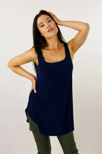 Navy Jersey Layer Cami