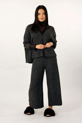 Black Mod Rib Culotte