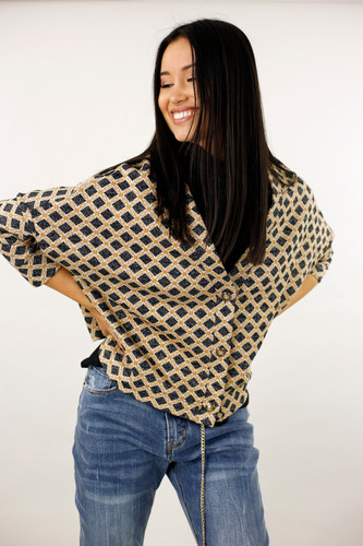 Black Chain Knit Cardi - FINAL SALE