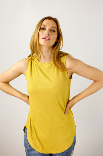 Gold Shimmer Crew Cami