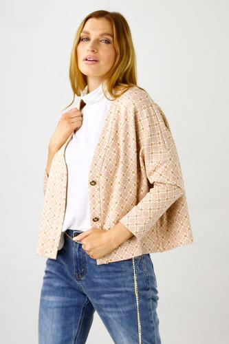 Peach Chain Knit Cardi - FINAL SALE