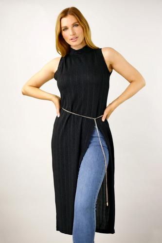Black Glam Tunic - FINAL SALE