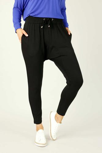 Black Bamboo Drop Crotch Pant - SALE