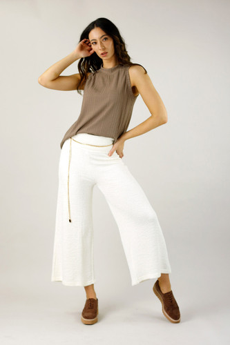 White Mod Rib Culotte