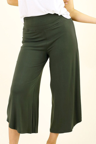 Khaki Bamboo Curi Pant - FINAL SALE