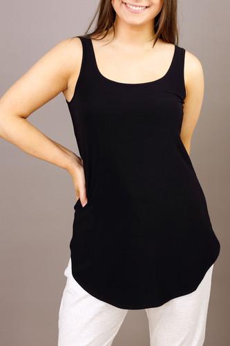 Black Jersey Layer Cami