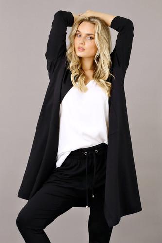 Black Nano Cotton Maxi Cardigan