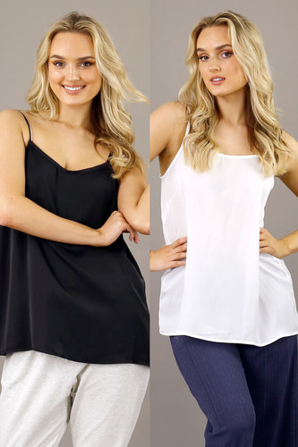Black and White x2 Pack Lily Cami