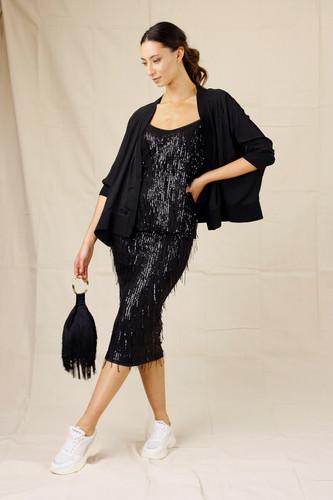 Black Allure Sequin Skirt
