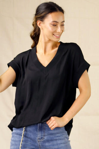 Black Silky T-Shirt