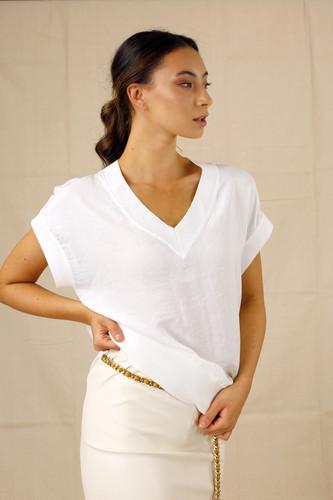 White Silky T-Shirt
