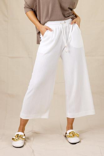 White Shan Rib Culotte