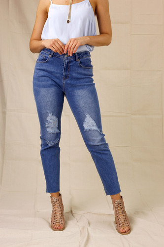 Chambray Harper Straight Jean