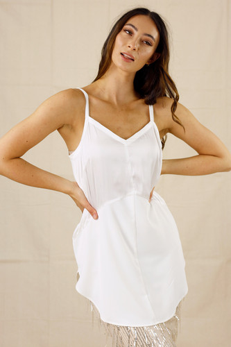 Ivory Soft Touch Splice Cami