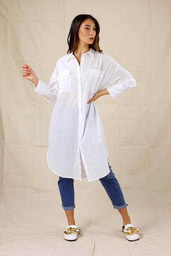 White Cotton Amber Shirt