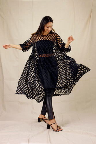 Coinspot Tiered Mesh Dress