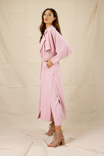 Soft Pink Soft Touch Trench