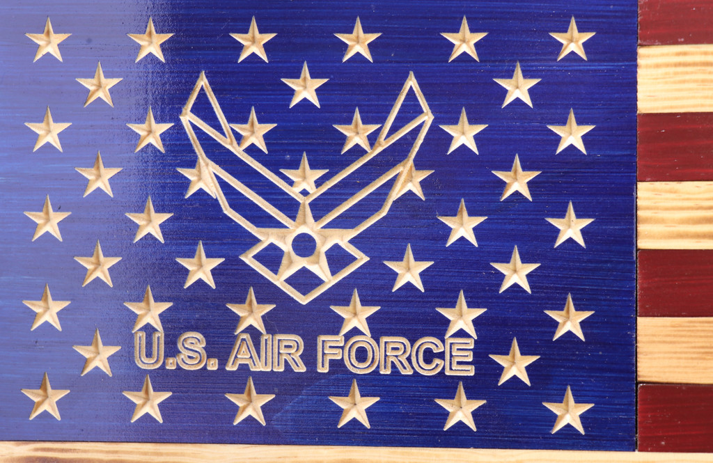 Rustic U.S. Air Force American Flag