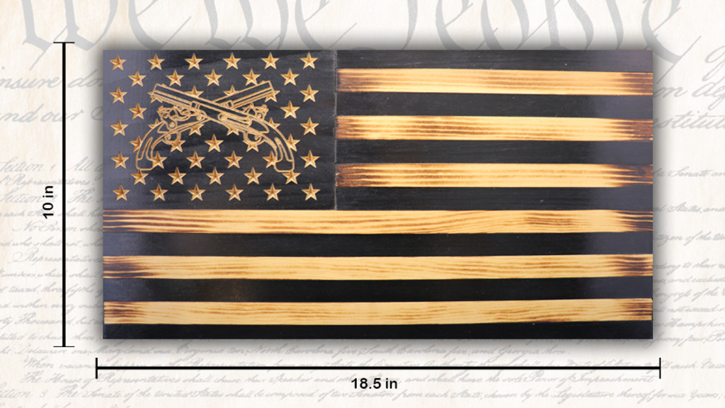 Rustic U.S. MP American Flag